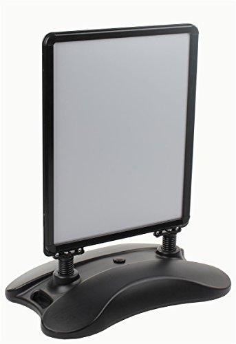 Displays2go Outdoor Sidewalk Snap Open Sign Frame, Wheeled Base, 22x28-Inches, Double-Sided, Black (Outdoor Frame)