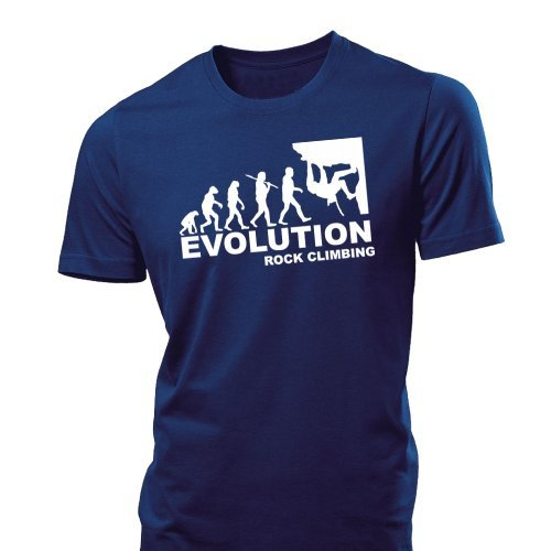 6TN Mens Evolution of Rock Climbing T Shirt