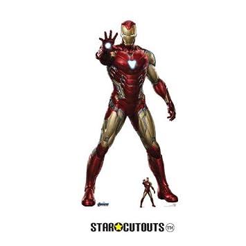 StarCutouts SC1314 Marvel Iron Man Robert Downey Jr - Figura de cartón de los Vengadores de los Vengadores, 185 cm, Multicolor