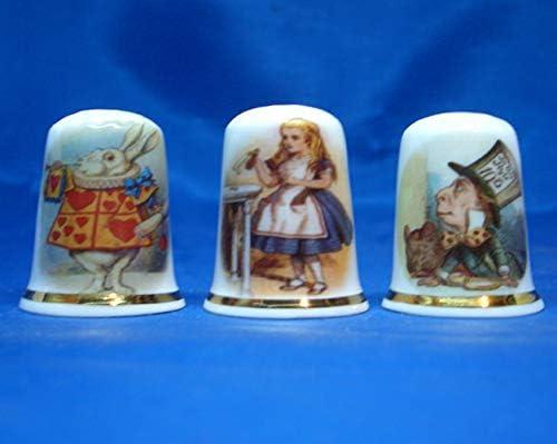 Birchcroft China Thimbles Works of Art Set of Three