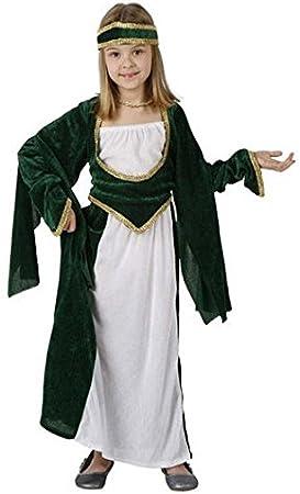 Mercajuguetes Disfraz Princesa Medieval Verde Para Niña de 4-6 ...