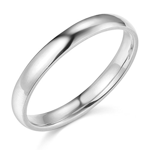 14k White Or Yellow Gold 3mm Plain Wedding Band