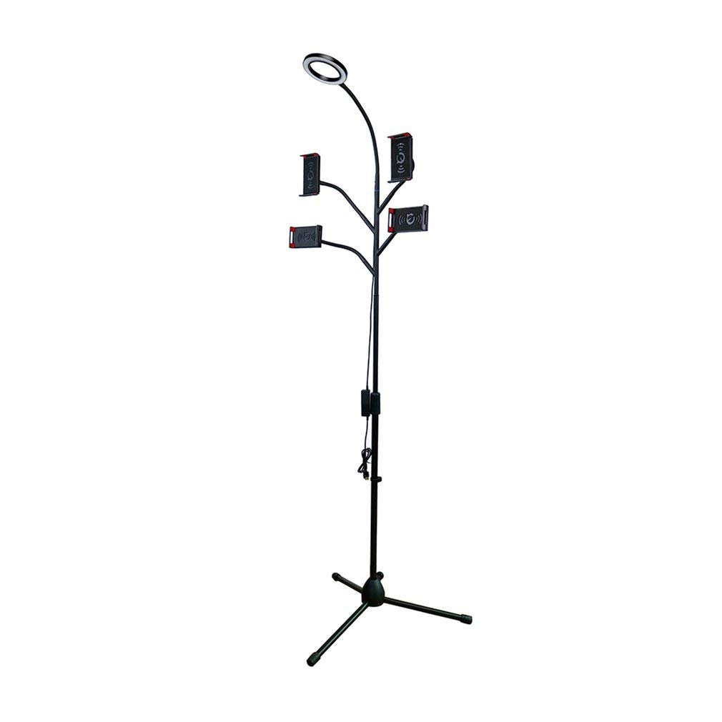 Coldcedar Multifunction Floor Broadcast Stand with 4 Clamps Live Stream Selfie Light by Coldcedar