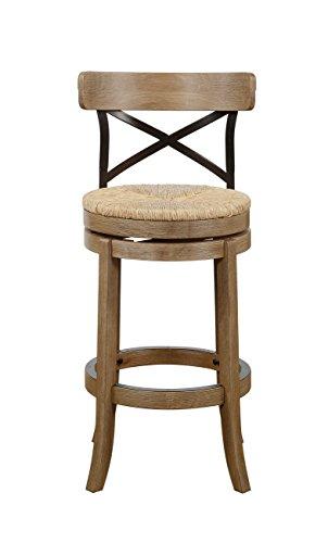 Boraam 76929 Myrtle Bar Height Stool, 29-Inch, Wire (Upholstered Metal Swivel Bar)