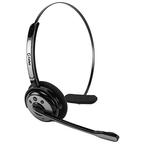 (Cellet Pro Trucker Wireless Headset/Cell Phone Headset with Microphone, Office Wireless Headset, On Ear Car Wireless Headphones for Cell Phone, Skype, Truck Driver, Call Center. (Black))