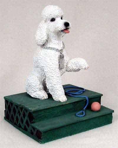 White Poodle Figurine - Poodle Figurine White Sport Cut MyDog