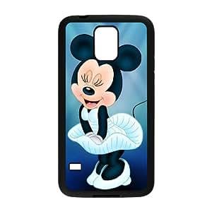 caso de Mickey Mouse Minnie Mouse de Disney A3F63G0HL funda Samsung Galaxy S5 funda 48EOD2 negro