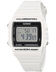 Casio Unisex W-215H-7AVCF Classic White Digital Stop Watch