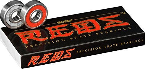 (Bones Reds Precision Skate Bearings (8 Pack w/ 4 Spacers))