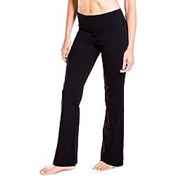 """Yogipace 27""""/28""""/29""""/30""""/31""""/32""""/33""""/35""""/37"""" Inseam,Petite/Regular/Tall, Women's Bootcut Yoga Pants Long Workout Pants, 29"""", Black Size XL"""