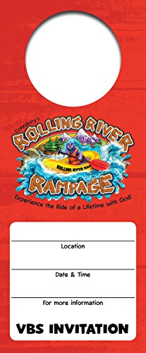 Vacation Bible School (VBS) 2018 Rolling River Rampage Promotional Door Hangers (Pkg of 24): Experience the Ride of a Lifetime with God!