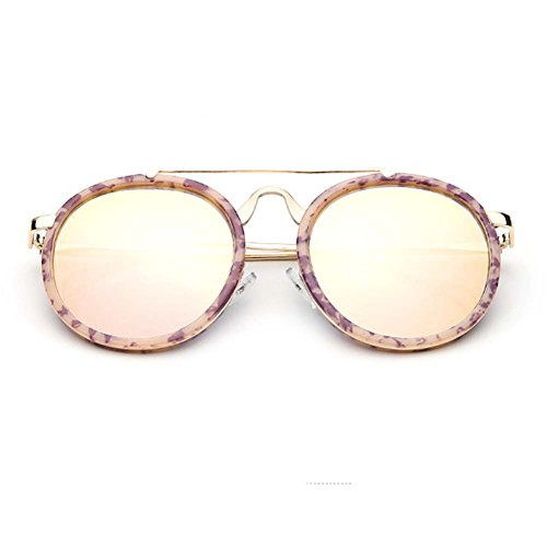 A-Royal 2016 New Korean Style Round Retro Reflective Lens Metal Frame - Rb4105 601s