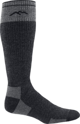 Darn Tough Fish and Game Series X-Wide Merino Wool Over-the-Calf Full Cushion Sock,Charcoal,X-Large