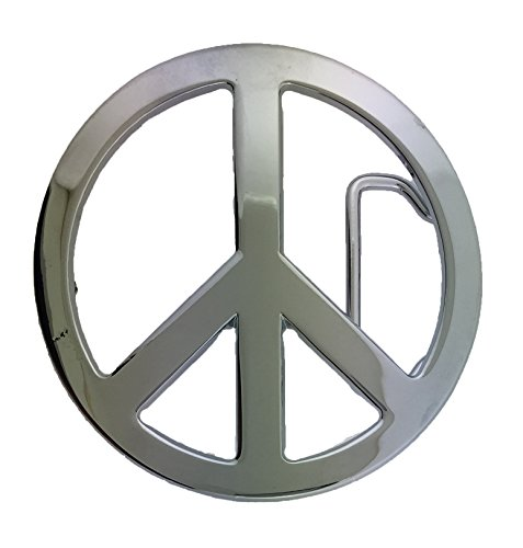 - Mens PEACE SIGN Alternative Retro Metal Belt Buckle