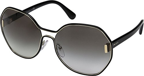 Prada Women's 0PR 53TS Pale Gold/Black/Grey Gradient Sunglasses by Prada