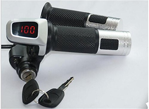 24v36v48v twist throttle gas handle grips accelerator with led display lock&switch battery