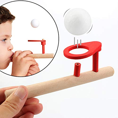 - LeSharp Classic Toys, Baby Wooden Blow Toy Hobbies Outdoor Funny Sports Foam Balls Floating Kids Game
