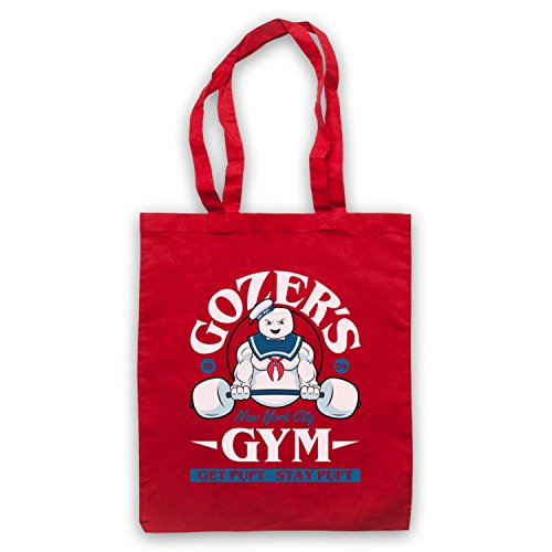 Ghostbusters Gozer's Gym Get Puft Stay Puft Bolso Rojo