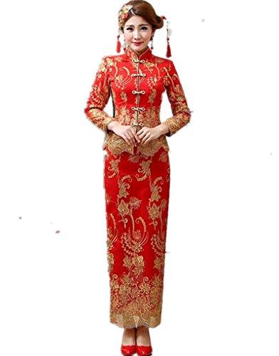 Shanghai Story Chinese Traditional Clothing(Top + Skirt) Cheongsam Wedding 4 from Shanghai Story