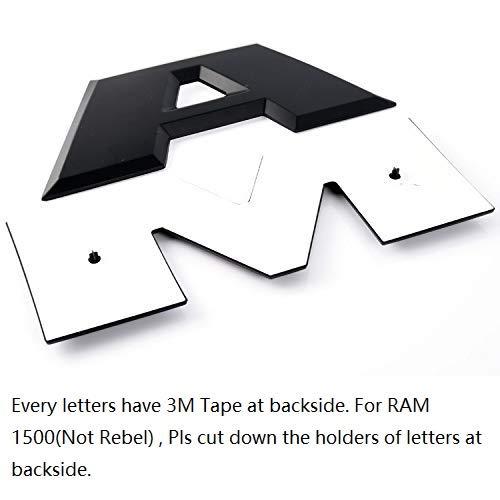 SENYAZON con Lettere RAM e targhette per Auto per Dodge RAM Decalcomanie per portellone del portellone Posteriore