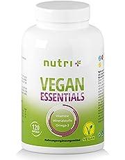 Veganska vitaminer och mineraler - Vitaminkapslar Veganska Viktiga Tillskott - Nutri-Plus Daily Multivitamin med vitamin B12, D3, järn, selen, Omega-3