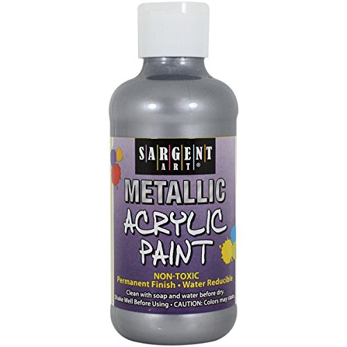 Sargent Art 25-2382 8-Ounce Metallic Acrylic Paint, Silver ()