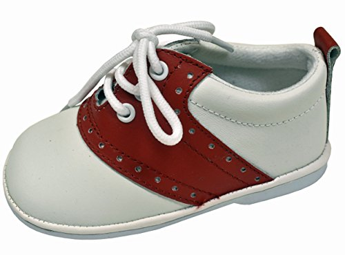- L'Amour Baby & Toddler Classic Oxford Leather Lace Up Shoes (2, Red)