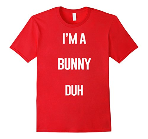 Homemade Couples Halloween Costumes Ideas (Mens I'm A Bunny Duh Easy Halloween and Christmas Costume Shirt Small Red)
