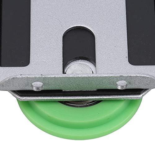 Green Sliding Door Pulley Paddle Wheel Closet Roller Sliding Wooden Door Wheel Silent Bearing Pulley Color: 459941