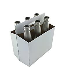 6 Pack Bottle Carrier for 12oz Beer Bottles (Bundle of 10) by The Weekend Brewer
