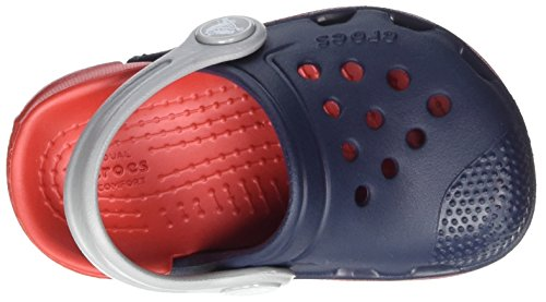Crocs Kids' Electro III Clog, Navy/Flame, 8 M US Toddler by Crocs (Image #7)