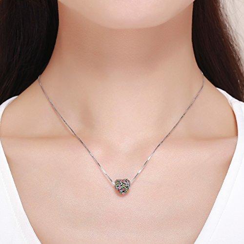 BAMOER 925 Sterling Silver Heart Charm Bead Love Charm Fit for Snake Chain Bracelet Spring Flower Charm by BAMOER (Image #6)