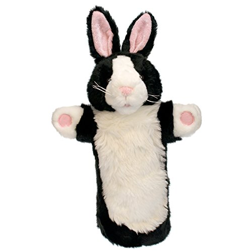 The Puppet Company Long-Sleeves Black & White Rabbit Hand Puppet