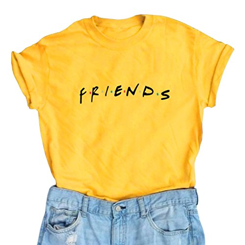 Erxvxp Women Cute T Shirt Junior Tops Teen Girls Graphic Printed T-Shirt (Small, Yellow)