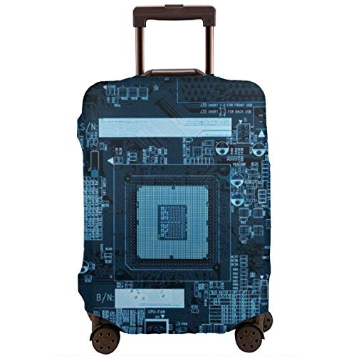 Travel Luggage Protective Covers Free High Tech Elastic Zipper Thickened Resistant Scratch Dust Proof Washable Suitcase Cover (Best Electronic Circuit Simulator)