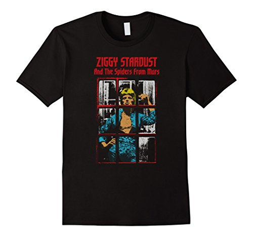 Mens David Bowie Ziggy Stardust And The Spiders From Mars T-Shirt Small Black