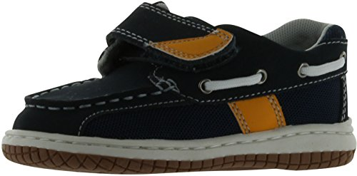 Jumping Jacks Sailor Boat Shoe (Toddler/Little Kid),Navy Oiled Leather/Gold Trim,7 M US Toddler ()