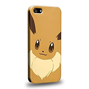 Case88 Premium Designs Pokemon Eevee Protective Snap-on Hard Back Case Cover for Apple iPhone 5 5s