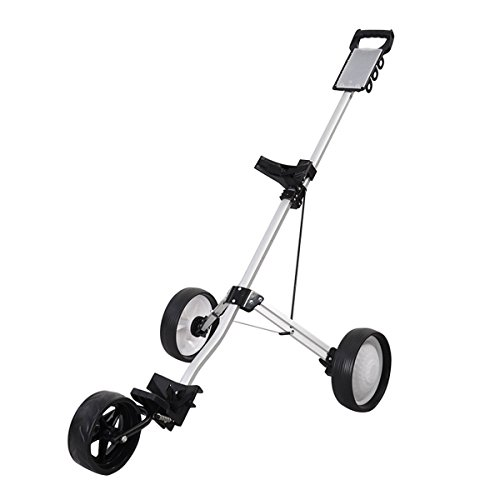 MD Group Golf Cart Push Trolley Pull Wheel Foldable Club Swivel Holder Lightweight Aluminum by MD Group (Image #1)