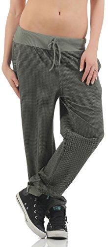 malito Pantalones de Chándal a Cuadros talla Grande 7397 Mujer Talla Única oliva