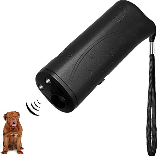 F-KING Anti Barking Device,LED Ultrasonic Dog Repeller,Handheld Stop Bark Trainer Device,Mini Dog Bark Control Device.