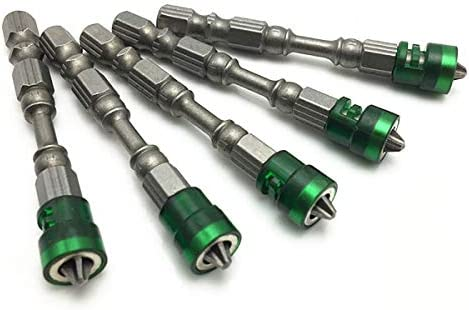 5pcs Set 65mm Magnetic Drill Screwdriver Bits S2 Steel Cross Head Screw Driver