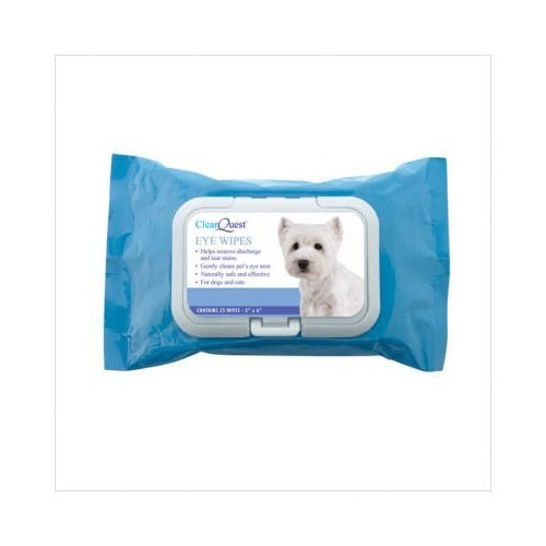 ClearQuest Pet Eye Wipes, 25-Pack, My Pet Supplies