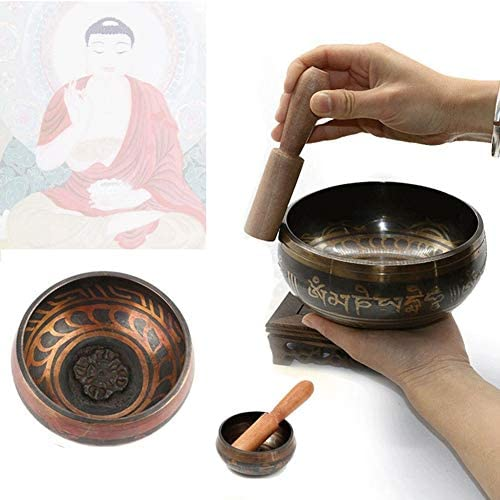 YESZ Buddhist Bowl Tap Keyboard Instrument Tibetan Buddhist Yoga Meditation Sound Therapy Healing Copper Singing Bowl / YESZ Buddhist Bowl Tap Keyboard Instrument Tibetan Buddhist Yoga Meditation Sound Therapy Healing Copper Singin...