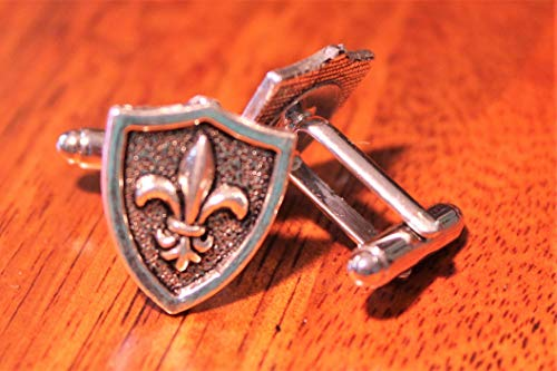 (Fleur de lis Cuff Links, Renaissance for men, stocking stuffer for man, coat of arms for men, medieval times cuffs, middle ages cuff links)