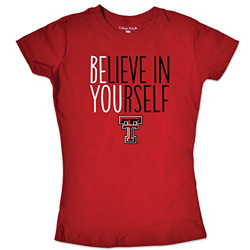 - College Kids NCAA Texas Tech Red Raiders Girls Short Sleeve Tee, Size 7/X-Small, Red