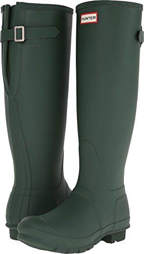 Hunter Women's Original Back Adjustable Rain Boots Hunter Green 10 M US M ()