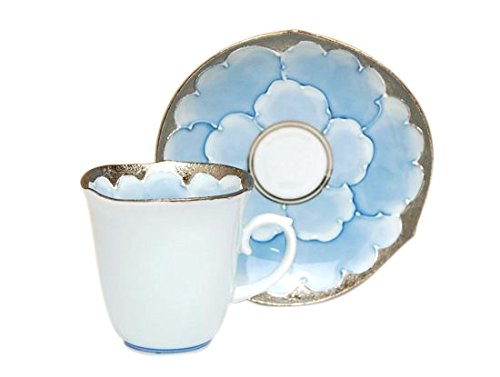 [Made in Japan] Platinum botan Demitasse cup and saucer