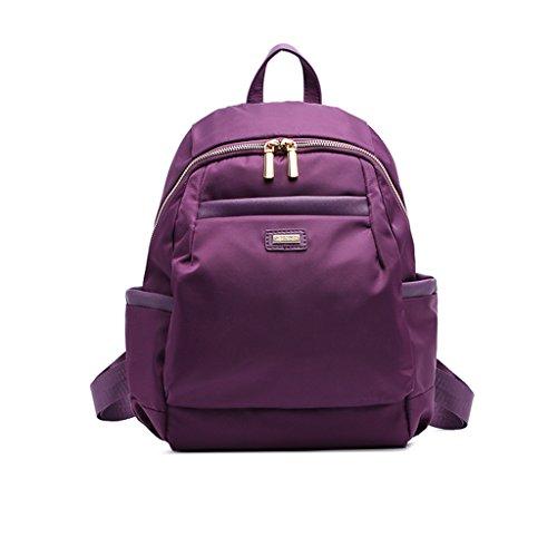Bolso de nylon de la bolsa de hombro de los bolsos del ocio simple del ocio Pequeño bolso de la lona del morral del bolso de la momia ( Color : Purple ) Purple