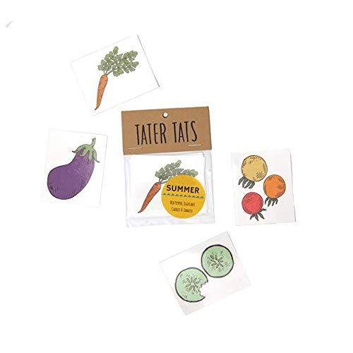 Tater Tats Summer Pack: Four Temporary Veggie Tattoos]()